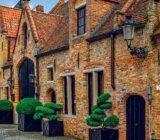 Bruges street houses